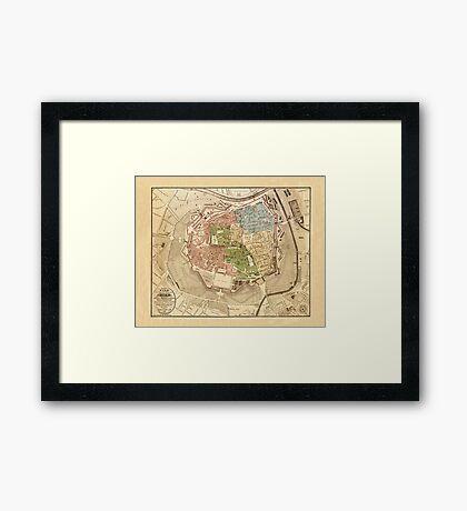 Map Of Vienna 1819 Framed Print