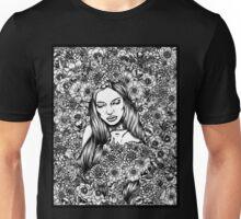 Flora's Shroud (Black and White) Unisex T-Shirt