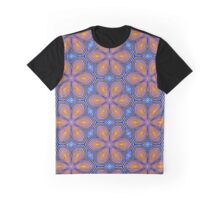 Knitted Flowers Pattern Graphic T-Shirt