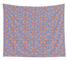 Knitted Flowers Pattern Wall Tapestry