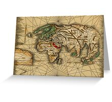 World Map 1513 Greeting Card