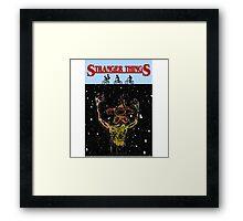Stranger Things - JAWS style Demogorgon Framed Print