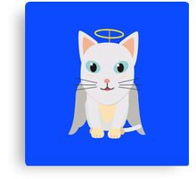 Cat Christmas Angel   Canvas Print