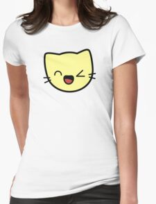 Kawaii Kitty Cats 2048 - tile 256 Womens Fitted T-Shirt