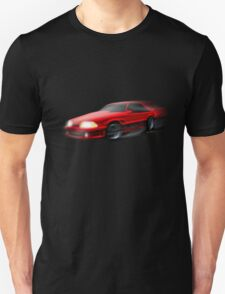 90 Ford Mustang 5.0 and The Midnight Chase Unisex T-Shirt