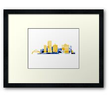 Polygonal Milwaukee | Brewers  Framed Print