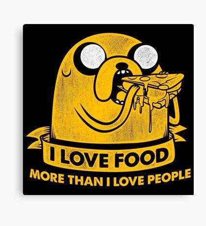 I Love Foods Pizza Jake Canvas Print