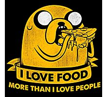 I Love Foods Pizza Jake Photographic Print