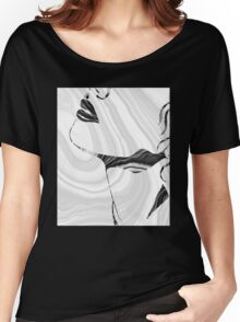 Sensual Portrait Art - Marbled Seduction - Sharon Cummings Women's Relaxed Fit T-Shirt