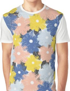 Yellena Spring Floral Pattern Graphic T-Shirt
