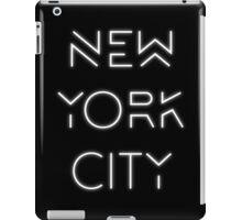 NYC (White on black version) iPad Case/Skin