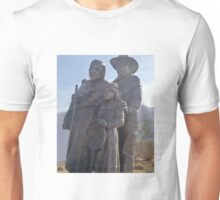STATUARY DEDICATED TO THE INDIGENOUS AMERICAN INDIAN Unisex T-Shirt