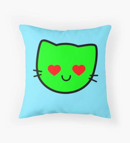 Kawaii Kitty Cats 2048 - tile 512 Throw Pillow