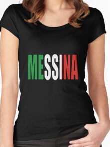 Messina. Women's Fitted Scoop T-Shirt