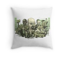 Breaking Bad Stylized Collage Throw Pillow