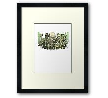 Breaking Bad Stylized Collage Framed Print