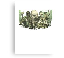 Breaking Bad Stylized Collage Canvas Print