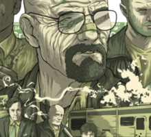 Breaking Bad Stylized Collage Sticker