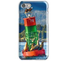 Poundstone Rock Buoy with Sentinel Island Lighthouse iPhone Case/Skin
