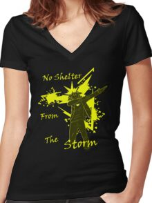 No Shelter From The Storm Women's Fitted V-Neck T-Shirt