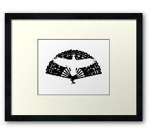Raven Fan Framed Print