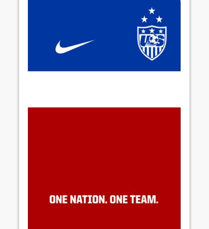 USWNT 2014 Jersey Sticker