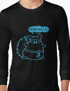The Ninja Chinchilla - Blue Long Sleeve T-Shirt