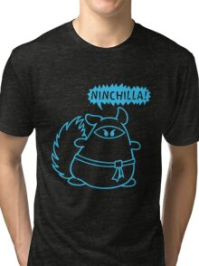 The Ninja Chinchilla - Blue Tri-blend T-Shirt