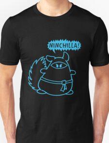 The Ninja Chinchilla - Blue Unisex T-Shirt