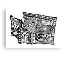 Washington ZenDoodle Metal Print