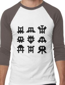 Pixel Invaders - Retro Pixelart Space Ships Men's Baseball ¾ T-Shirt