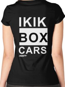 IKIKBOXCARS (inverted) Women's Fitted Scoop T-Shirt