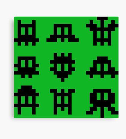 Pixel Invaders - Retro Pixelart Space Ships Canvas Print