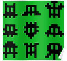 Pixel Invaders - Retro Pixelart Space Ships Poster