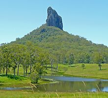 Mt Coonowrin, Queensland by Margaret  Hyde