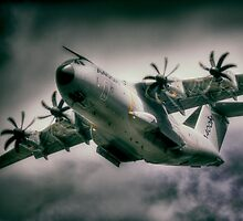 A400M Airbus Vortices by Nigel Bangert