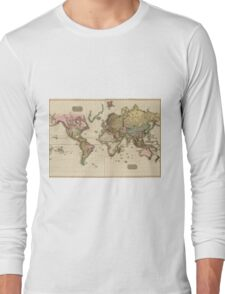 World Map (1812) Long Sleeve T-Shirt