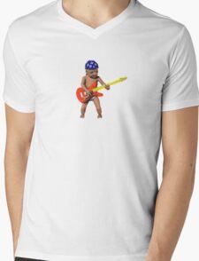 Gangsta Baby Playing Guitar Mens V-Neck T-Shirt