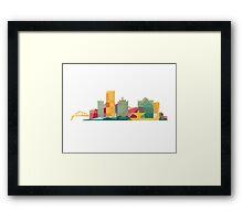 Polygonal Milwaukee   Organic Framed Print