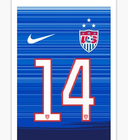 USWNT 2015 Away Jersey Morgan Brian Sticker