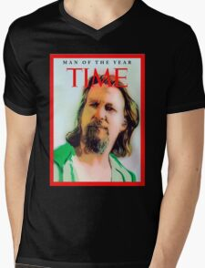 Time's Man of the year - The Big Lebowski Mens V-Neck T-Shirt