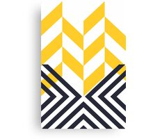 Modern Geometric Pattern Yellow Black Canvas Print