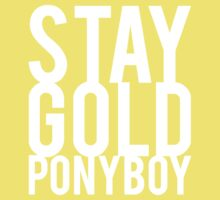 Stay Gold Ponyboy Kids Tee