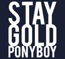 Stay Gold Ponyboy Kids Tee