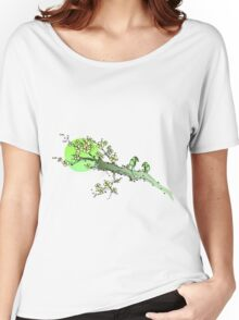Green Sakura Women's Relaxed Fit T-Shirt