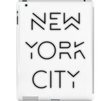 NYC (Black on white version) iPad Case/Skin