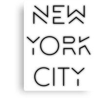 NYC (Black on white version) Canvas Print
