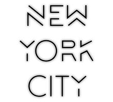 NYC (Black on white version) Photographic Print
