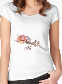 Sunset Blossoms Women's Fitted Scoop T-Shirt
