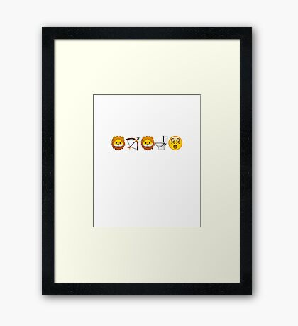 Game of Emojis: Tywin Lannister (emojis only) Framed Print
